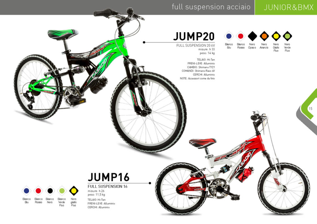 JUNIOR & BMX Casadei 2017/18 - Full suspension acciaio