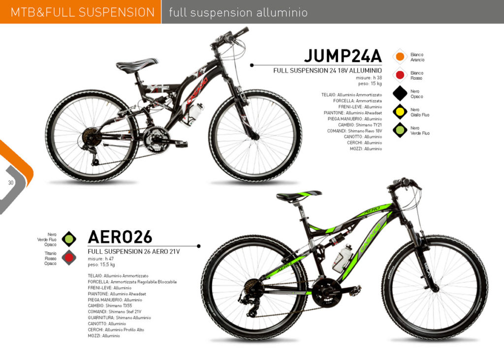 MTB & Full Suspension Casadei 2017/18 - Full Suspension alluminio