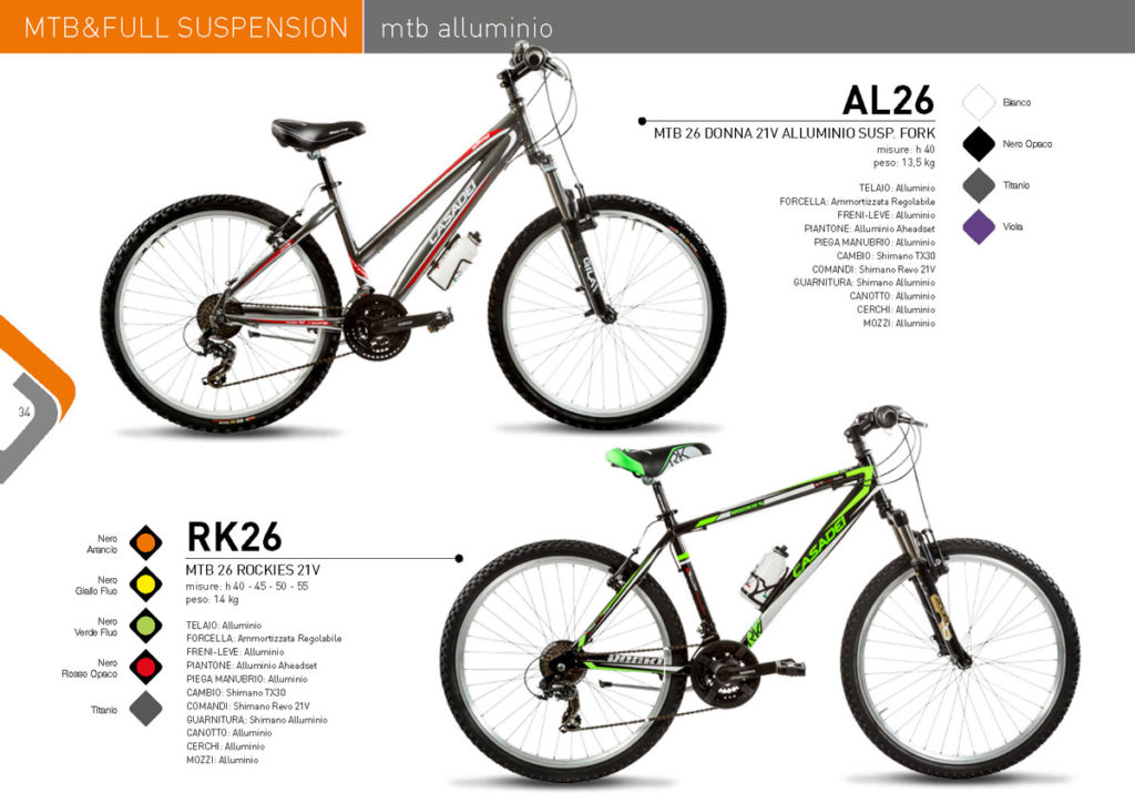 MTB & Full Suspension Casadei 2017/18 - MTB alluminio