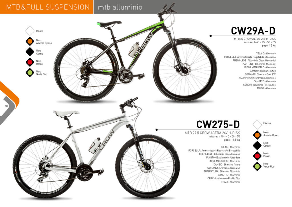 MTB & Full Suspension Casadei 2017/18 - CROW - MTB alluminio