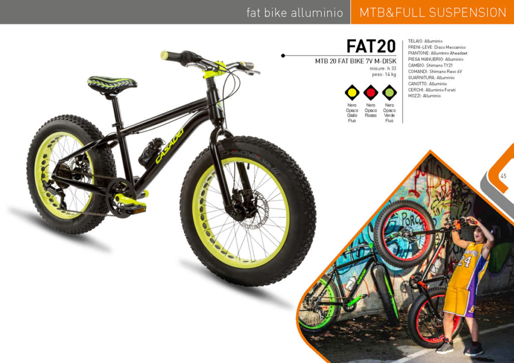MTB & Full Suspension Casadei 2017/18 - FAT BIKE alluminio