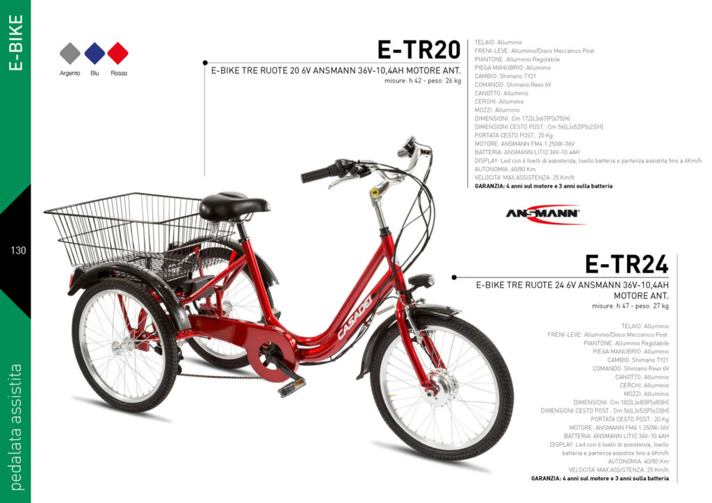 E-BIKE Casadei 2020/21 - pedalata assistita